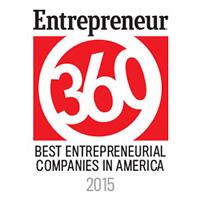 Entrepreneur360 Best Entrepreneurial Company in America, 2015