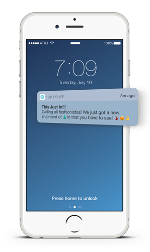 Push Message with Emoji